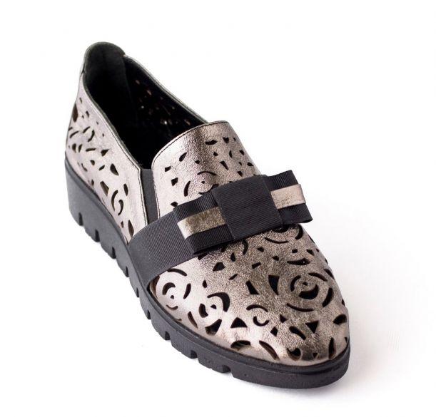 Кожаные туфли с перфорацией ANNA LUCCI